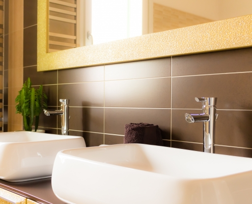 Plan double vasque pour salle de bain