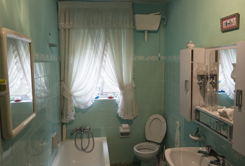 Décoration salle de bain à l'ancienne