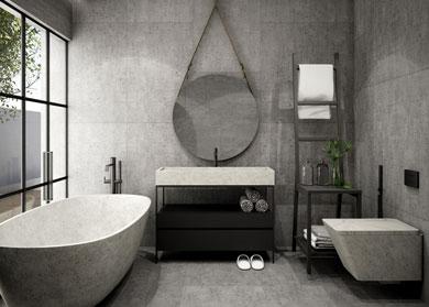 Pierre et salle de bain